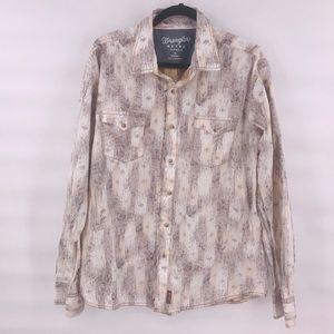 Wrangler retro button western shirt size XL men's